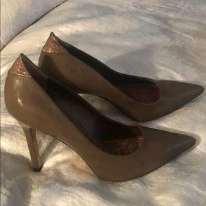 Sam Edelman 4 inch Brown Patent leather Heels
